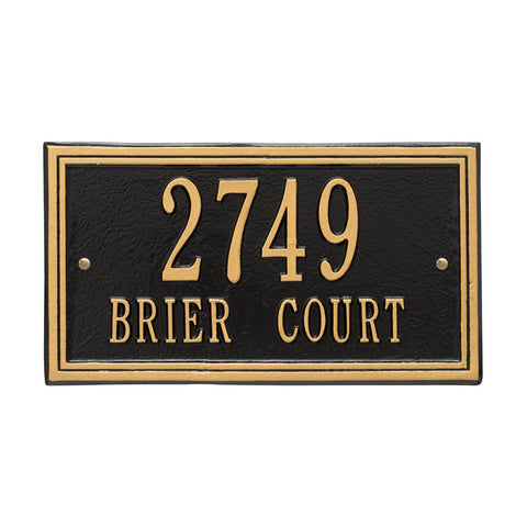 Address plaque Double line standard wall