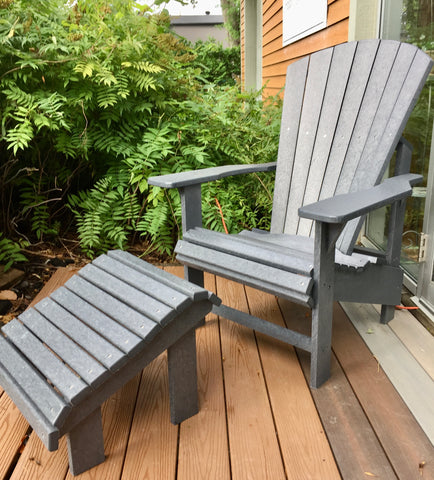 Adirondack chair and stool