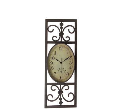 Aged face outdoor wall clock