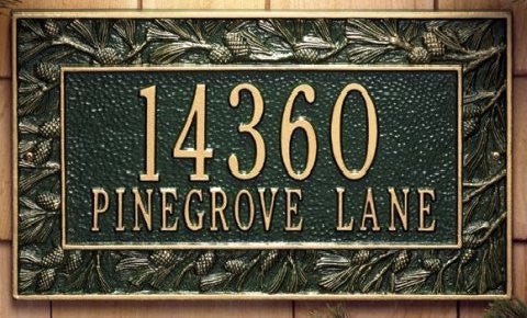 plaque Pinecone