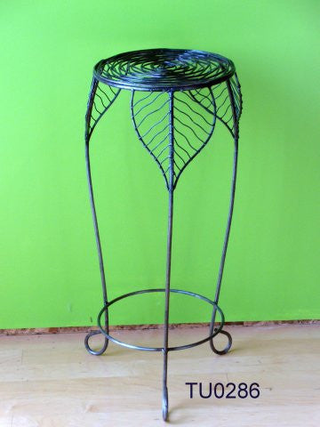 Wire leaf tall plant-stand