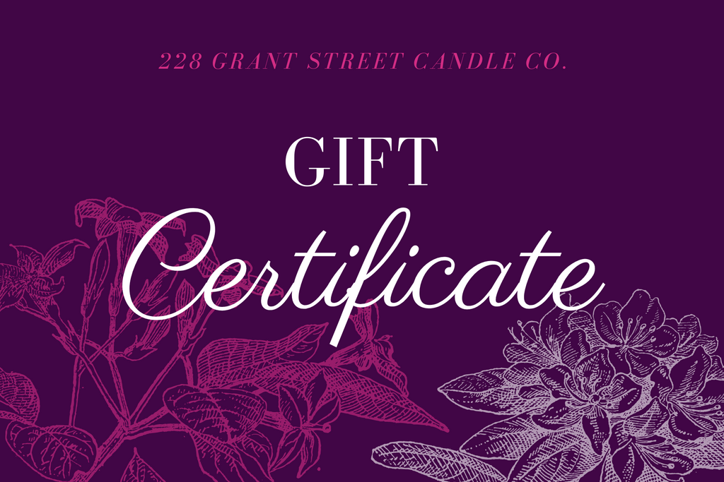 228 Grant Street Candle Co. eGift Card