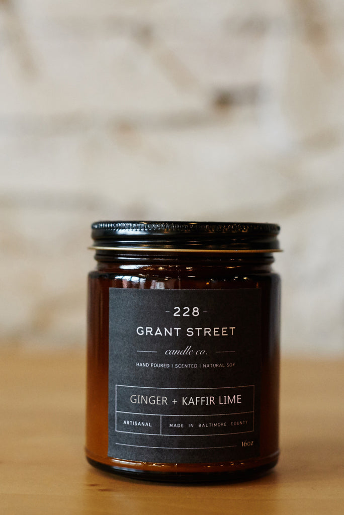 Ginger + Kaffir Lime Amber Jar