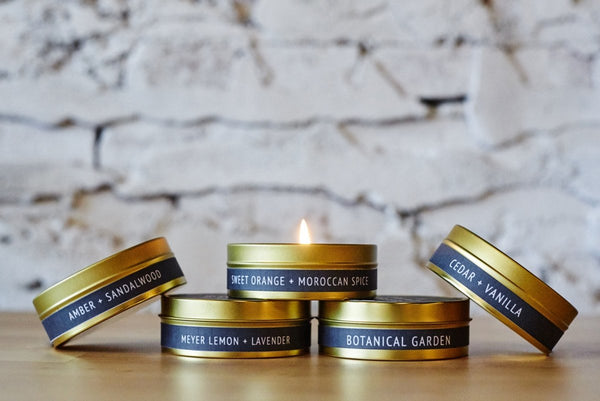 Tobacco + Patchouli Gold Travel Tin