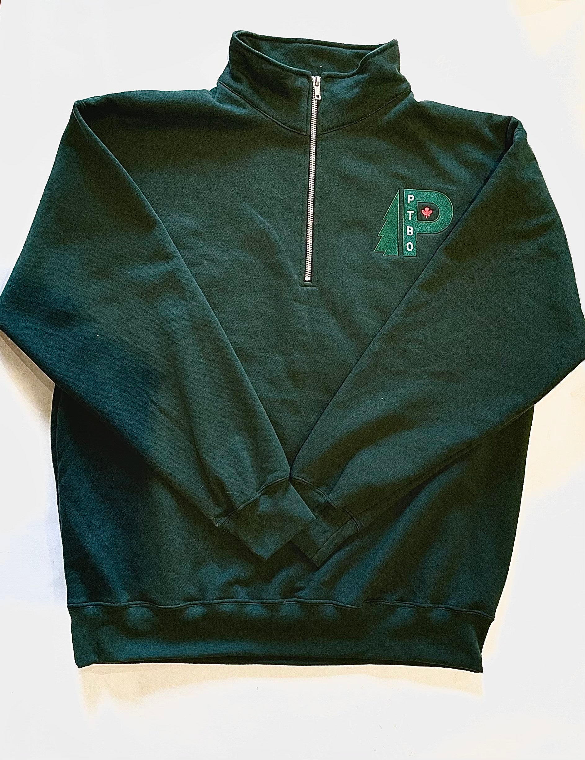 1/4 Zip Fleece Forest Green