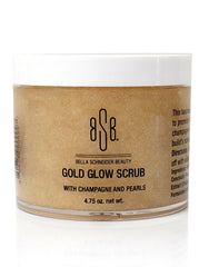 GOLD GLOW SCRUB WITH CHAMPAGNE AND PEARLS