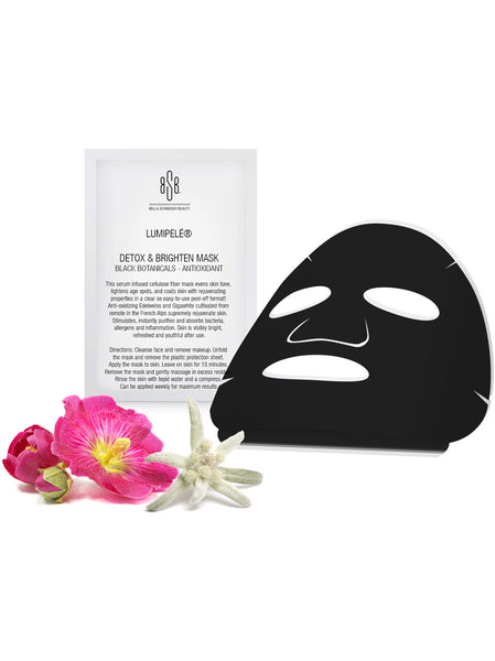 DETOX & BRIGHTEN MASK BLACK BOTANICALS - ANTIOXIDANT (SET OF 3)