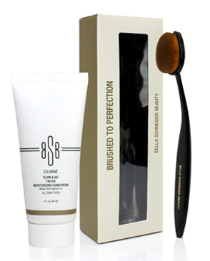 Receive a Complimentary Foundation Brush with your Purchase of Glow & Go SPF 30