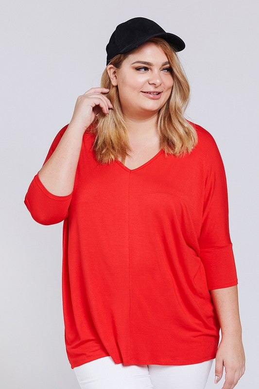 The Katie Top in Red