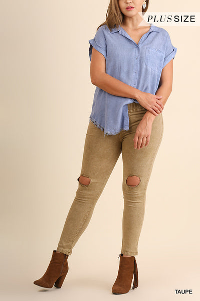The Ary Pant in Taupe