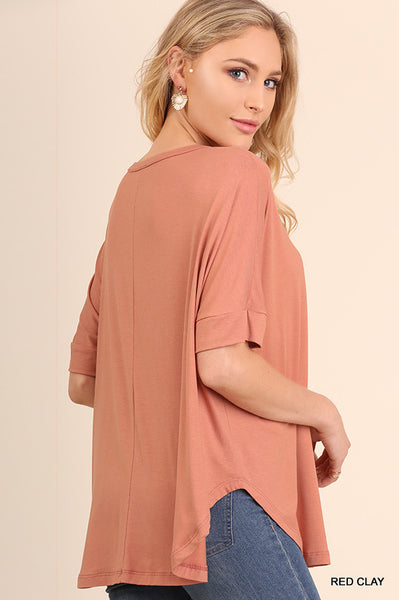 The Merideth Tunic in Red Clay