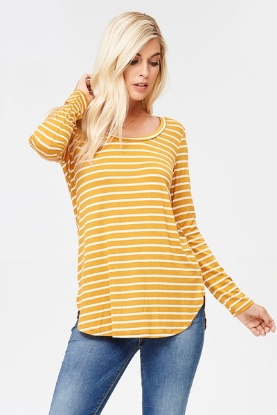 The Ayla Top in Mustard