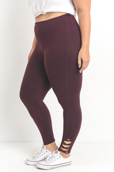 The Brynn Legging in Plus Wine