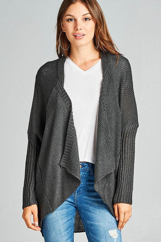 The Prim Cardigan in Charcoal