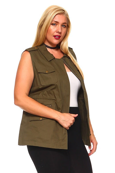 The Trisha Vest in Olive