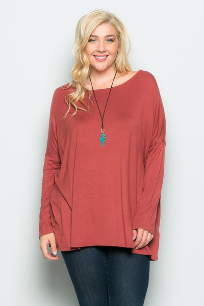 The Grace Top in Marsala