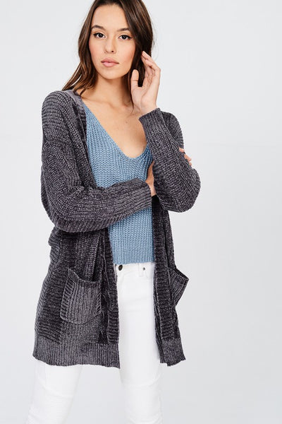 The Anna Cardigan in Charcoal