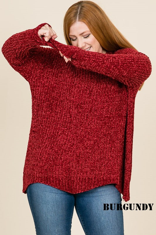 The Cameron Sweater in Ruby