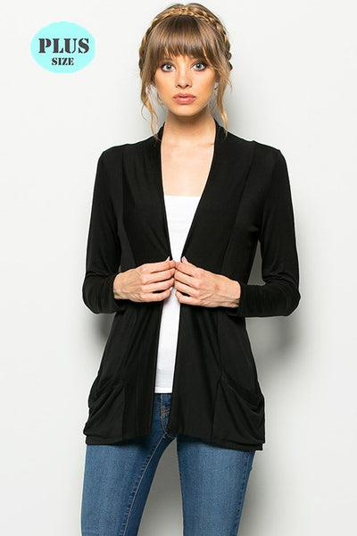The Gianna Cardigan in Black Plus