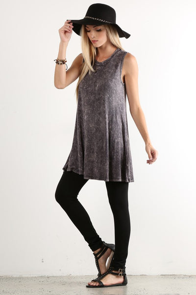 The Aubrey oversized tunic with scoop neckline