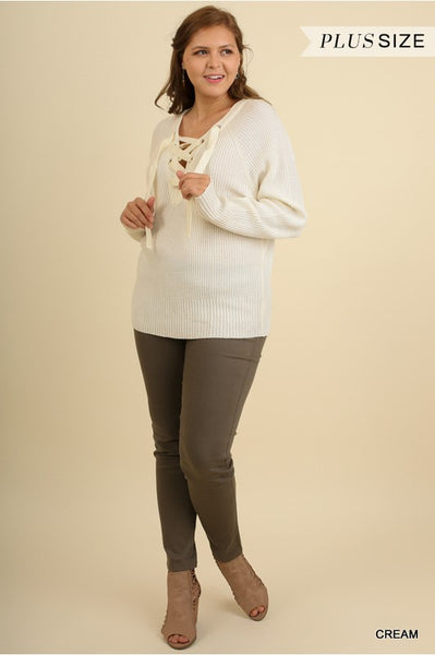 The Edie Sweater in Cream-Plus