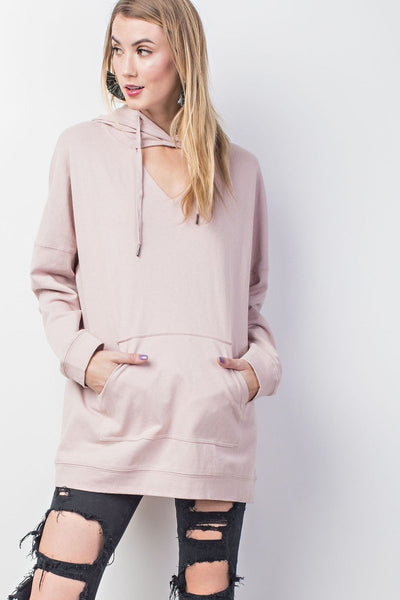 The Parker Hoodie in Rose