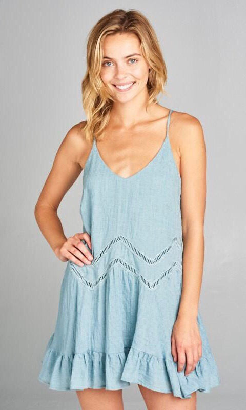 The Bianca Tunic in Blue Grey