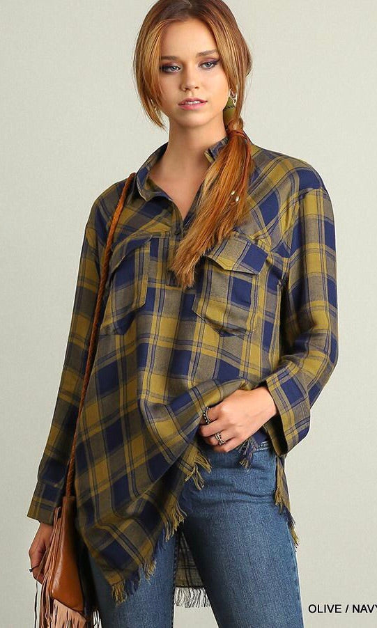 The Laurel Plaid Top