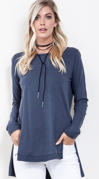 The Waverly Top in Navy