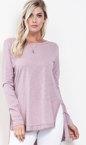 The Waverly Top in Light Mauve