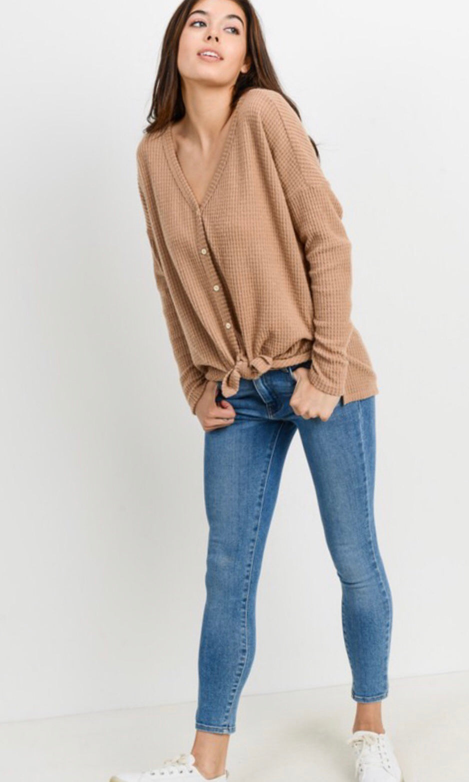 The Beckett Top in Taupe