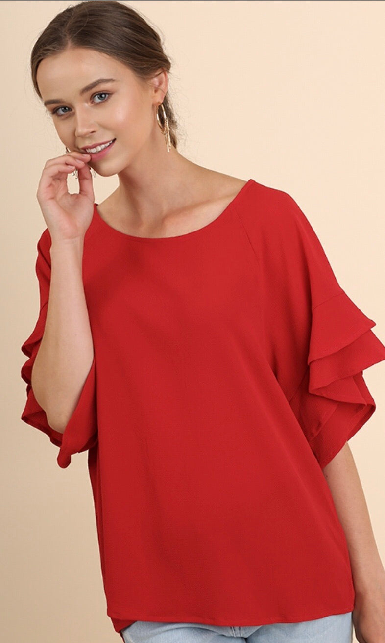 The Lola Top in Red