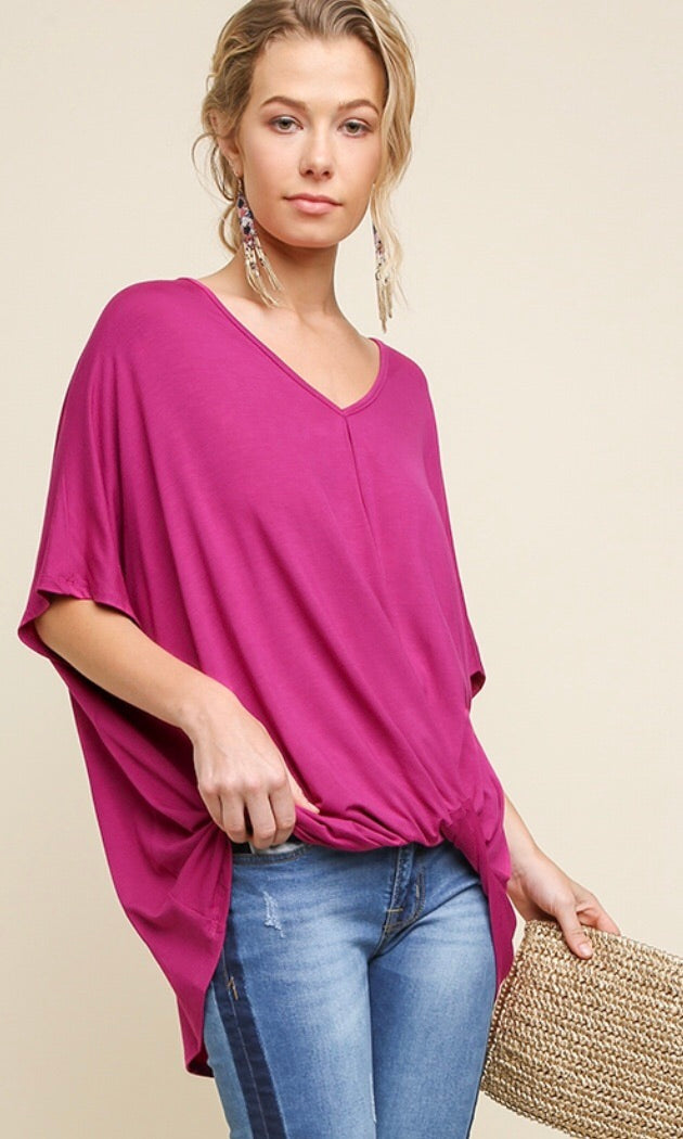 The Candace Top in Rasberry