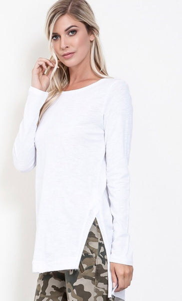 The Waverly Top in White