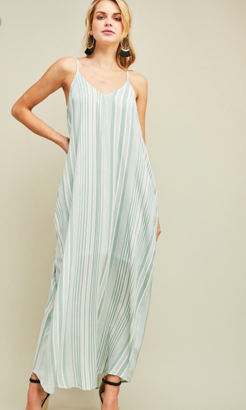The Addison Maxi Dress in Sage