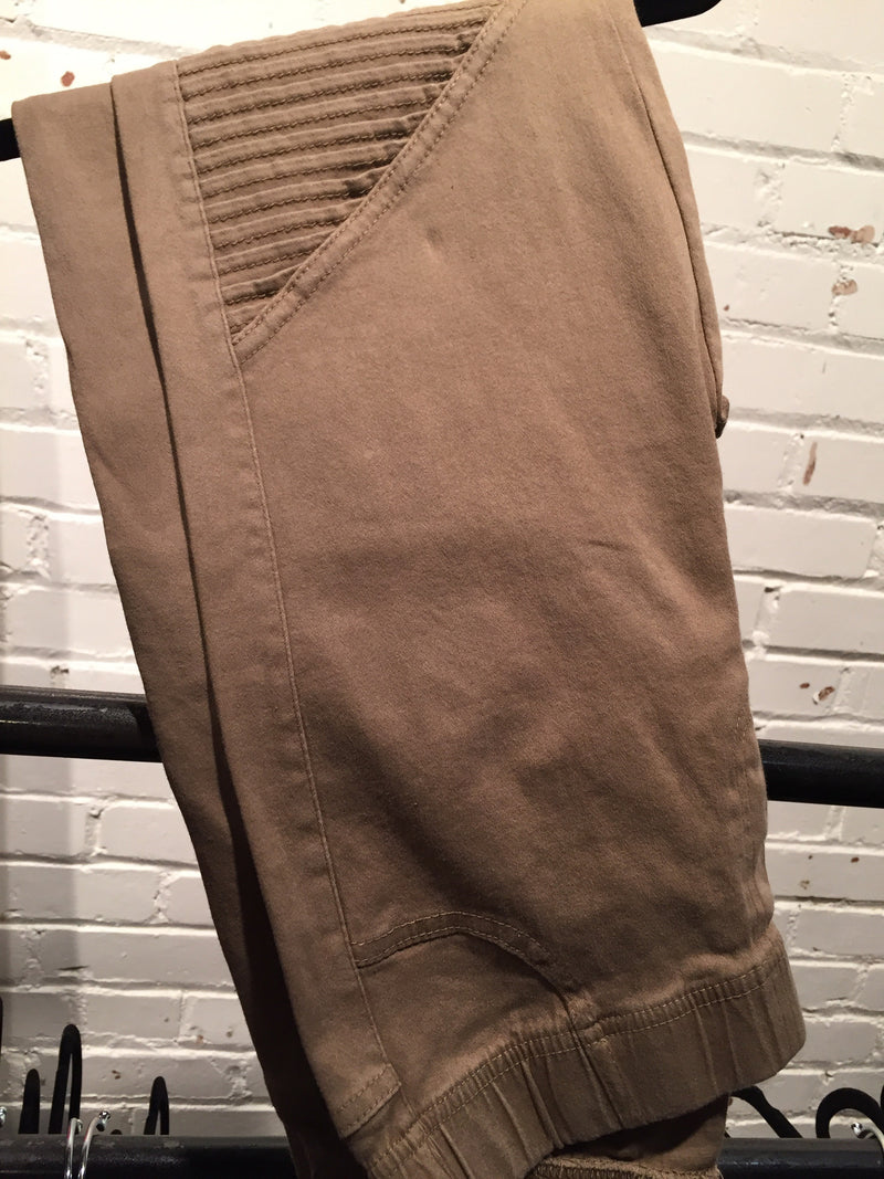 The Whitley Moto Jegging in Khaki