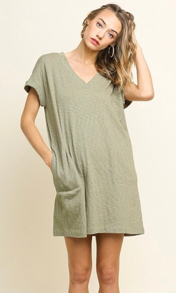 The Emory Dress in Sage