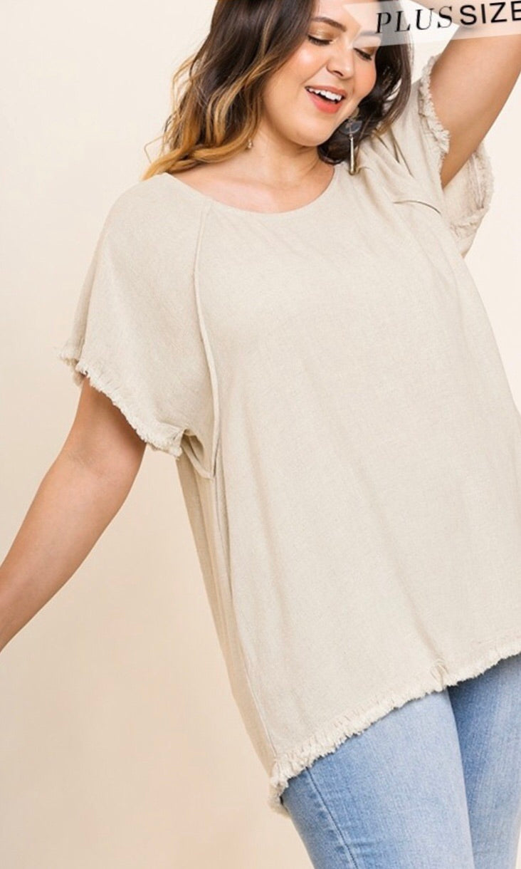 The Lindsay Top in Oatmeal