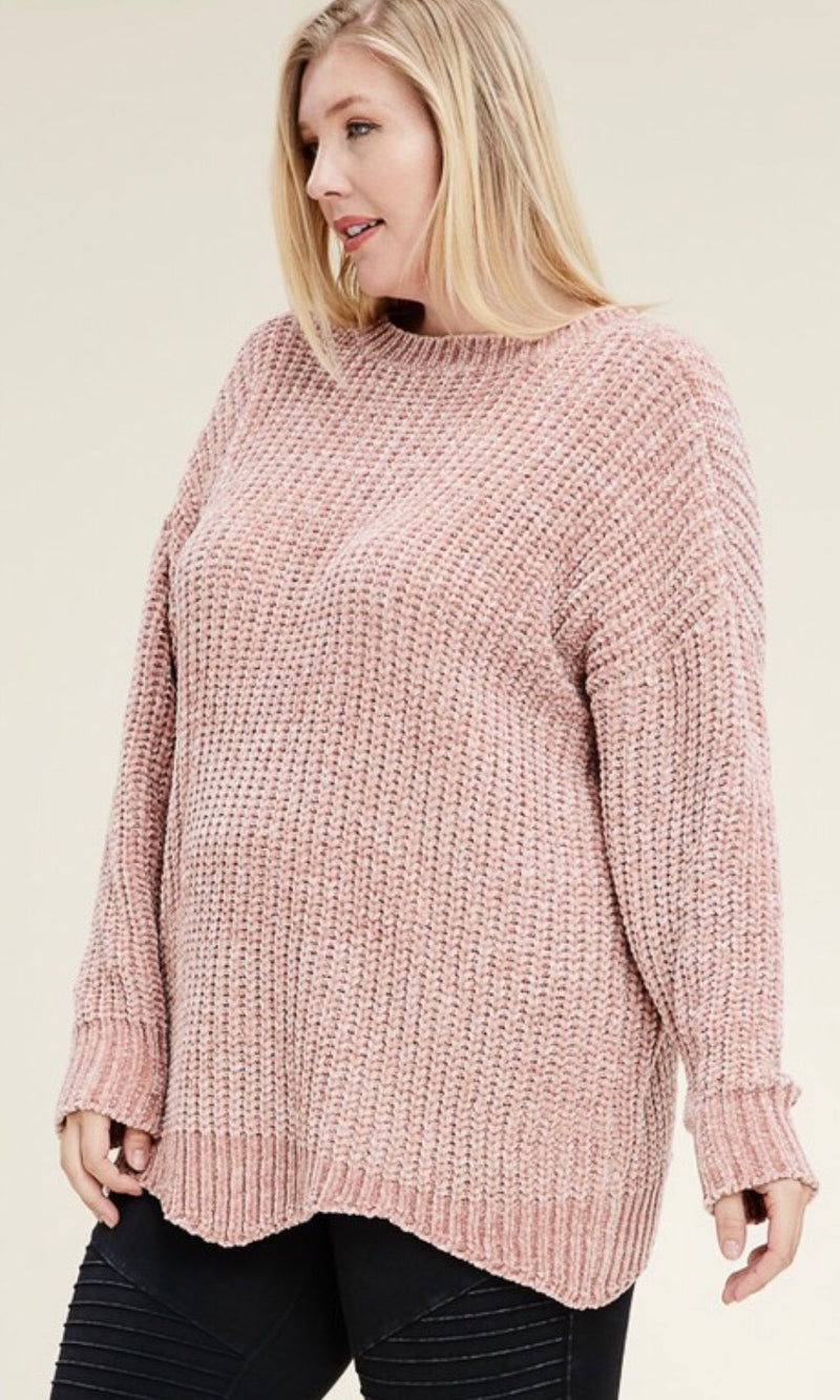 The Cameron Sweater in Mauve