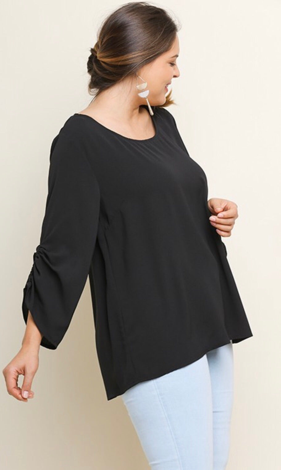 The Tinsley Top in Black
