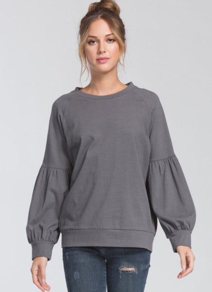 The Madi Top in Charcoal