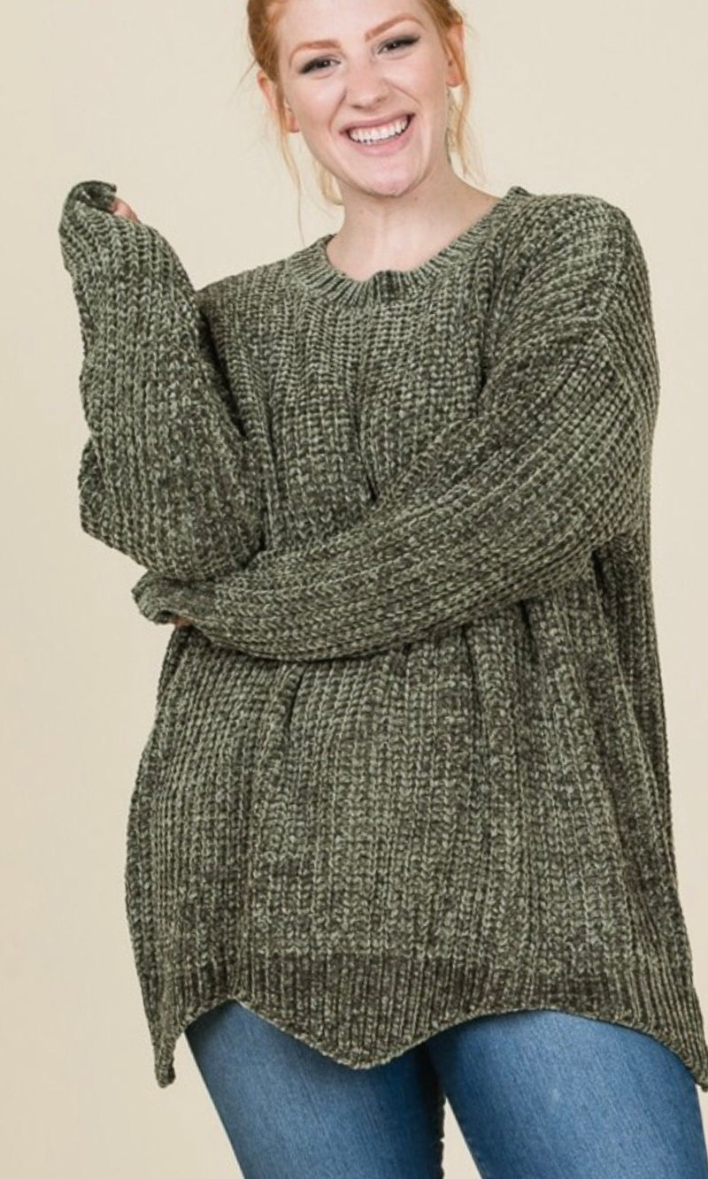 The Cameron Sweater in Olive