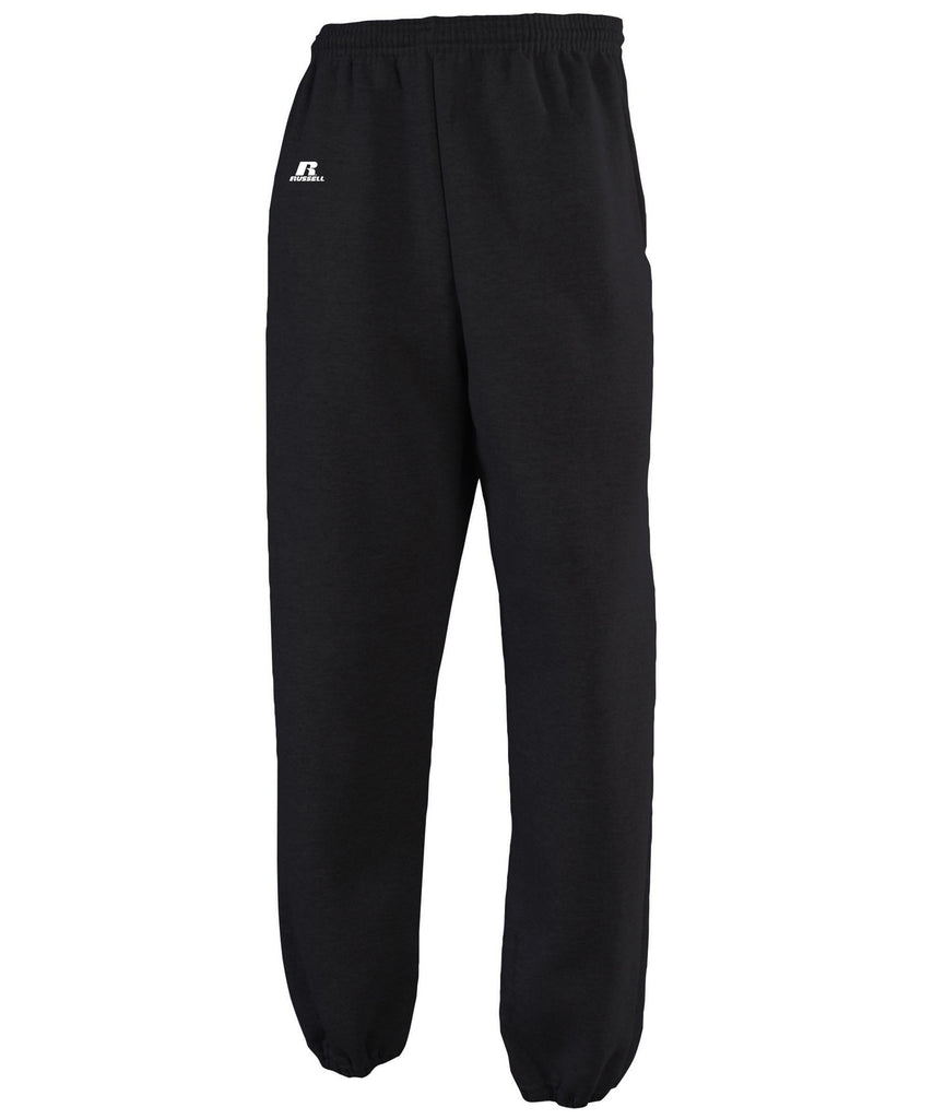 Russell Athletic Men's Dri-Power Closed-Bottom Fleece Pocket Pant - Black Selected