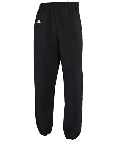 A classic sweatpant design that delivers versatile performance and amazing comfort. The Russell Athletic Men's Dri-Power Closed-Bottom Fleece Pocket Pants feature moisture-wicking fabric, elastic hem leg bottoms, and an adjustable drawcord providing the right fit.