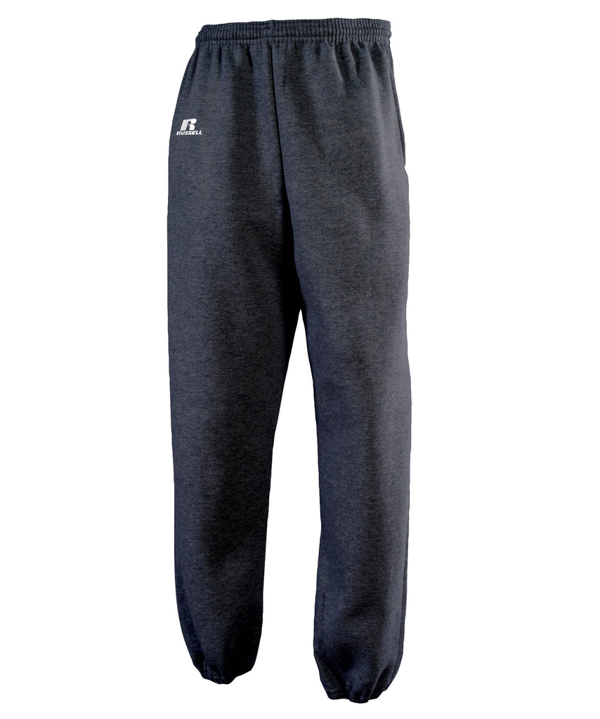 Russell Athletic Men's Dri-Power Closed-Bottom Fleece Pocket Pant - Black Heather Selected
