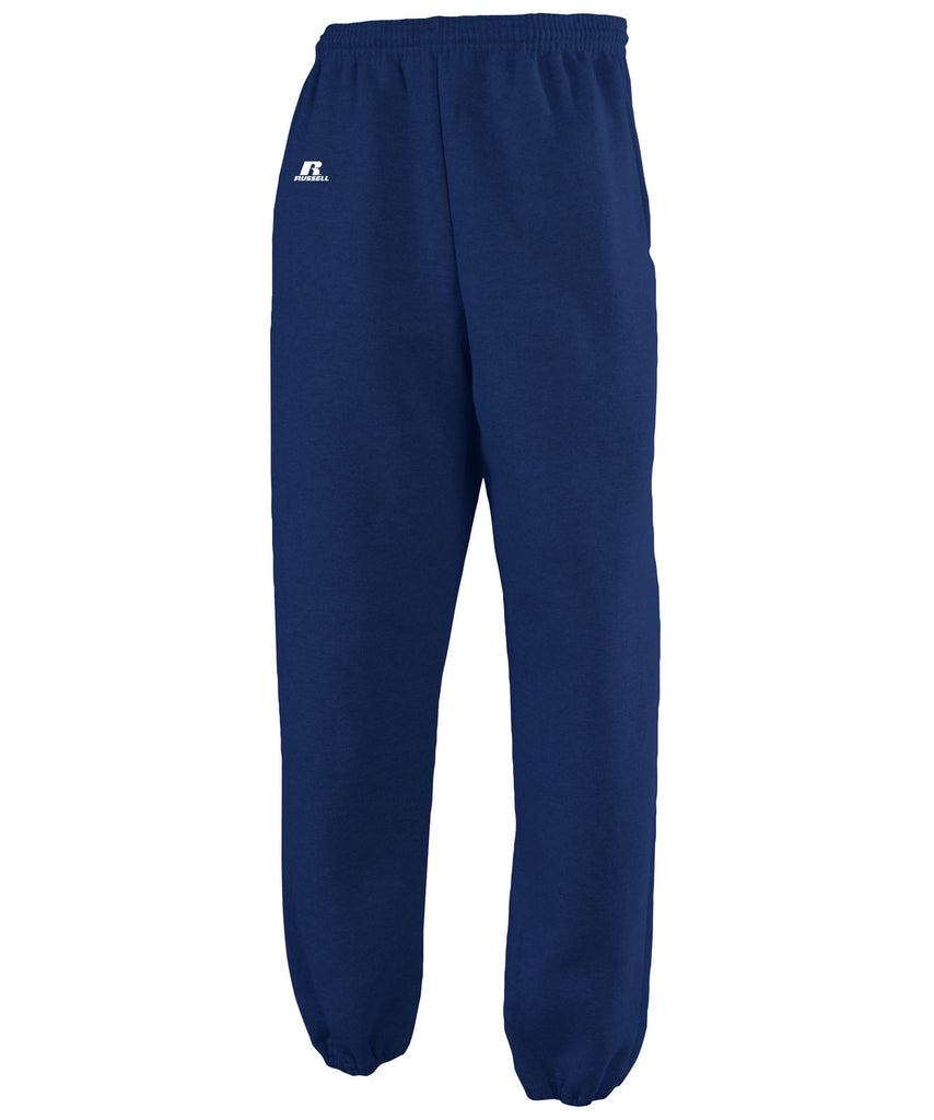 Russell Athletic Men's Dri-Power Closed-Bottom Fleece Pocket Pant - Navy Selected