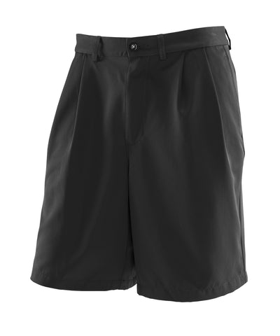"The Russell Athletic Men's Golf Shorts provide the comfort you need while you're on and off the course. These lightweight shorts feature moisture-wicking fabric and are wrinkle resistent with front pleats making them great for coaches as well. The shorts have a 9"" inseam with side pockets and don the Russell logo above the left back pocket. Back pockets have a button closure. Available in sizes 32-56."