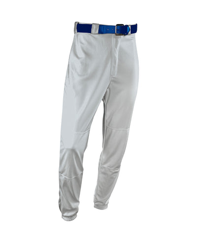 "The Russell Athletic Baseball Game Pants keep you cool and dry. These pants feature a 2"" deluxe elastic waistband with one set-in back pocket and an elastic leg hem. You'll be able to move easily and slide to any base knowing that these baseball pants have a double stitch crotch and double knees and a coverseamed back rise. Adult Standard Inseam: Size S-28"" M-29"" L-30"" XL-31"" XXL-32"""