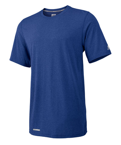 The Russell Athletic Men's Player's Tee has our Dri-Power moisture-wicking fabric drawing sweat off your skin to the outside of the material. This short sleeve shirt is a must-have for your workouts and features a ribbed crewneck collar. Available in sizes S-4XL.