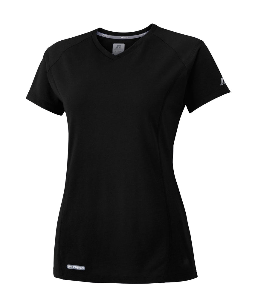 Russell Athletic Women's Player's Tee - Black Selected